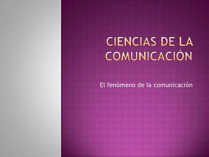 Ciencias de la comunicación3