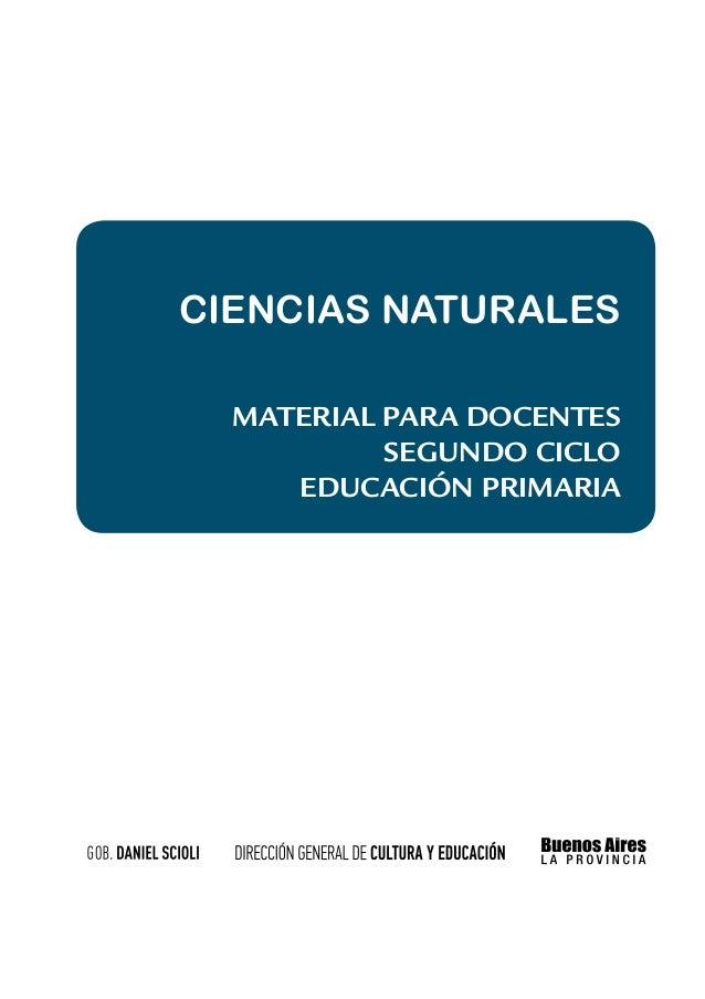 Ciencias Naturales Material para docentes  Segundo Ciclo
