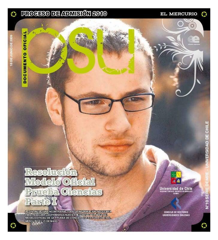 DEMRE: [Respuestas 4] Ciencias PSU 2009