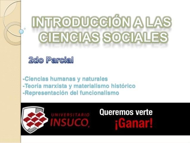 Introducción a las Ciencias Sociales Segundo Parcial