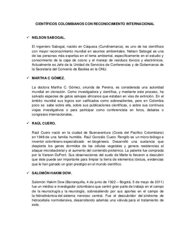 CIENTÍFICOS COLOMBIANOS CON RECONOCIMIENTO INTERNACIONAL NELSON SABOGAL.El ingeniero Sabogal, nacido en Cáqueza (Cundinam...