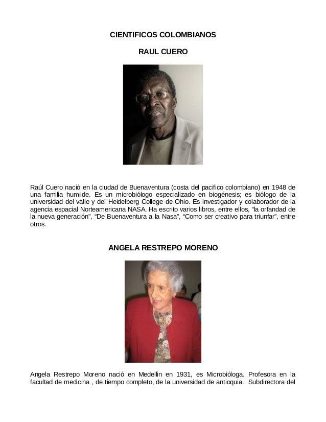 Cientificos colombianos