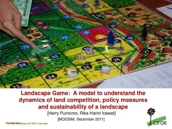 Landscape Game: A model to understand the       dynamics of land competition, policy measures             and sustainabili...