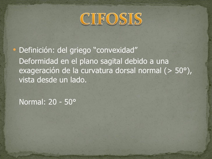 Cifosis