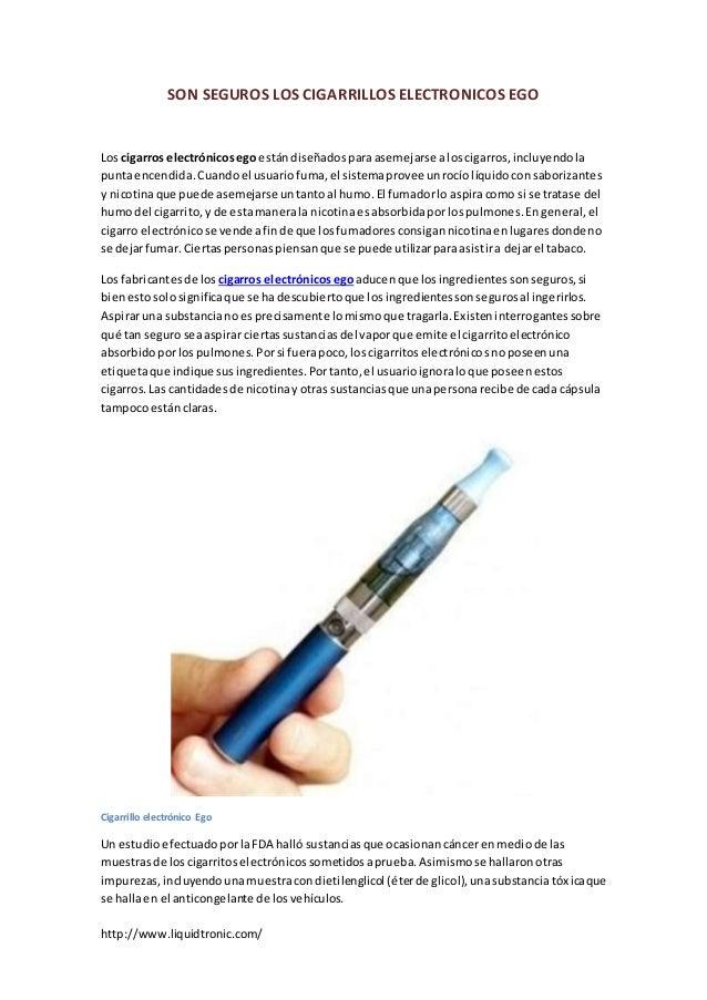 SON SEGUROS LOS CIGARRILLOS ELECTRONICOS EGO  Los cigarros electrónicos ego están diseñados para asemejarse a los cigarros...