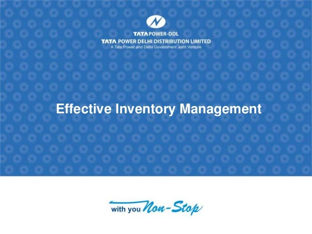 Flame Electrical; Inventory Management Case Study