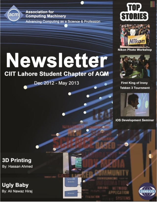CIIT Lahore Student Chapter of ACM Newsletter 2013