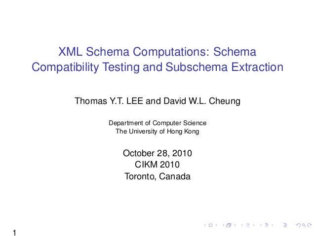 XML Schema Computations: Schema Compatibility Testing and Subschema Extraction