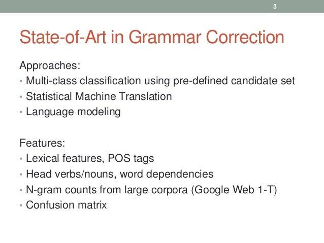 Correcting grammatical errors