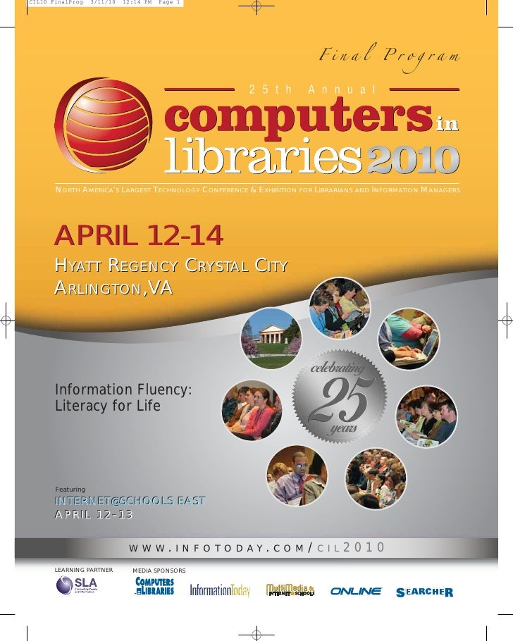 Final           Program     NORTH AMERICA'S LARGEST TECHNOLOGY CONFERENCE & EXHIBITION FOR LIBRARIANS AND INFORMATION MANA...