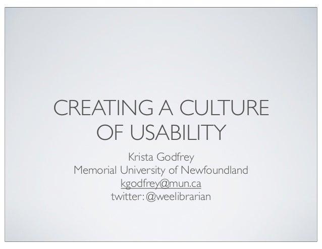 Cil usability culture