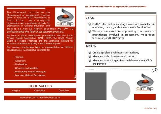 Cimap profile   q1 - 2013