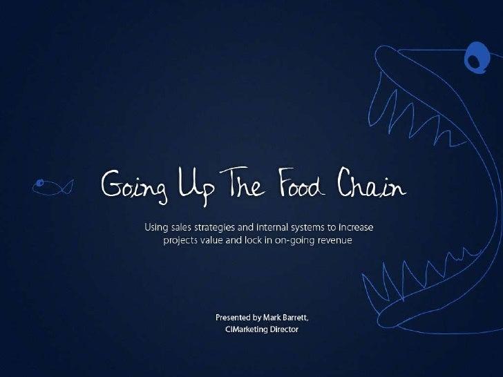 Going up the food chain - Mark Barrett