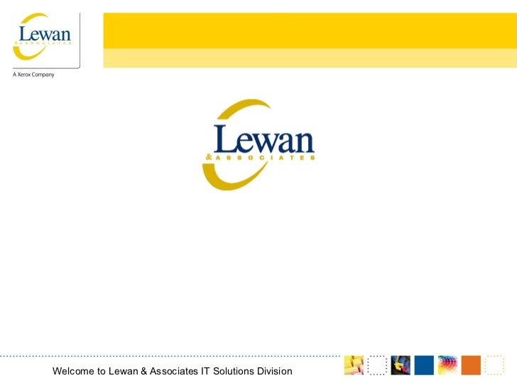 Storage TrainingWelcome to Lewan & Associates IT Solutions Division
