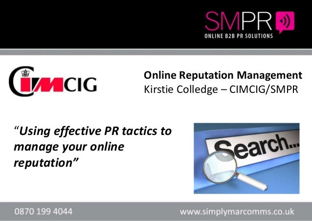 """Header here or textHeader here or text """"Using effective PR tactics to manage your online reputation"""" Online Reputation Man..."""