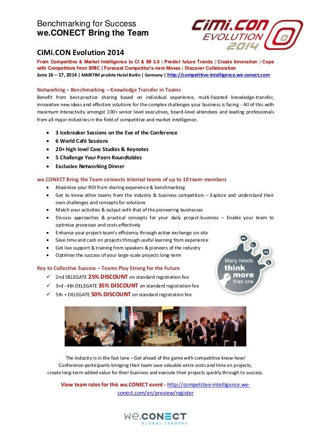 Bring the Team to the CiMi.CON Evolution 2014 conference in Berlin