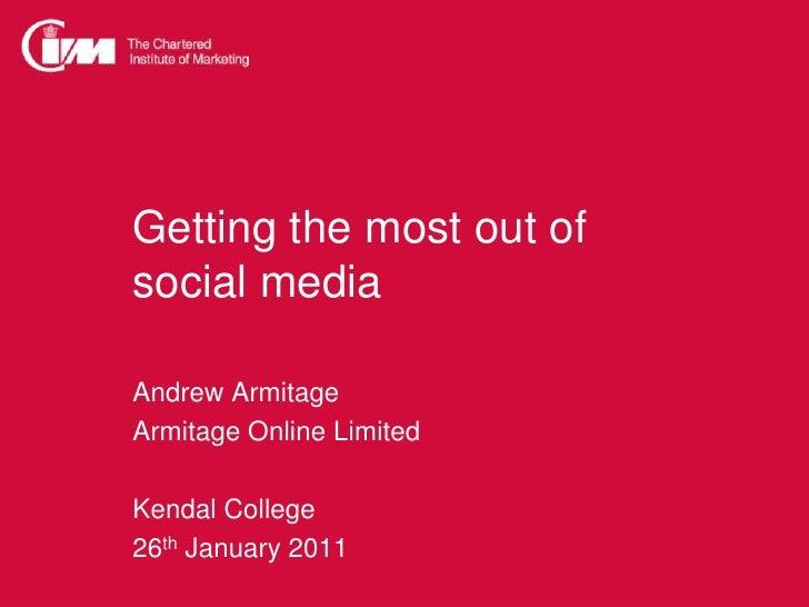 CIM social media kendal jan 11