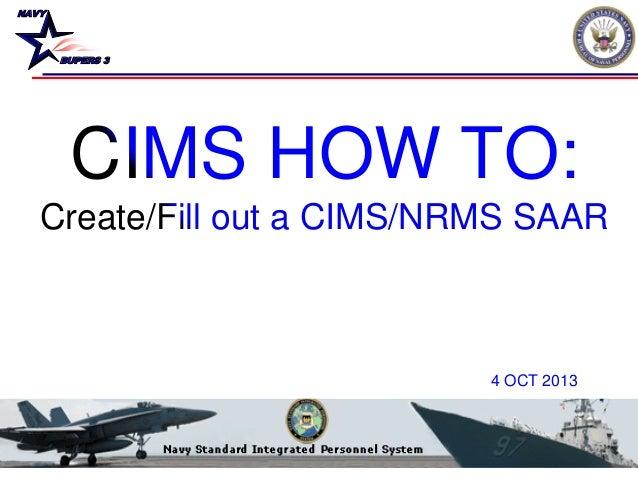 CIMS HOW TO- CIMS SAAR (OCT 13)