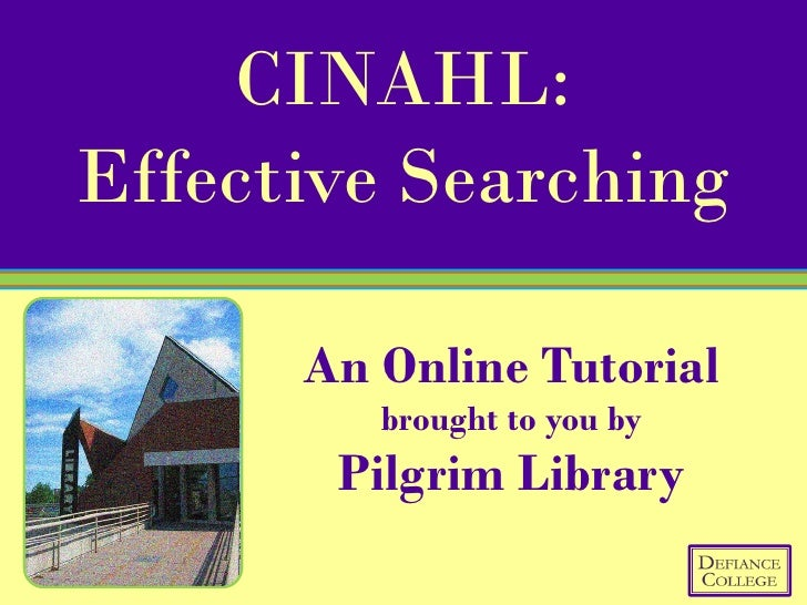 CINAHL Effective Searching