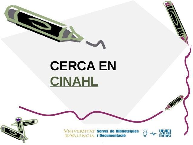 CERCA EN CINAHL