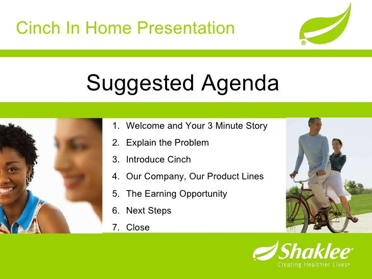 Cinch In Home Presentation