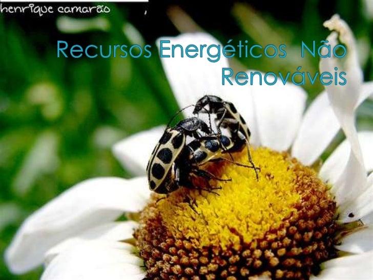 Introdução   Neste trabalho, iremos abordar o tem     'Recursos naturais não renováveis' e pretendemos assimilar a sua de...