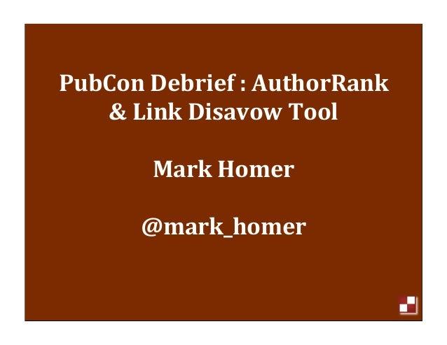 Mark Homer SEO Presentation to Cincinnati SEO Group December 2012
