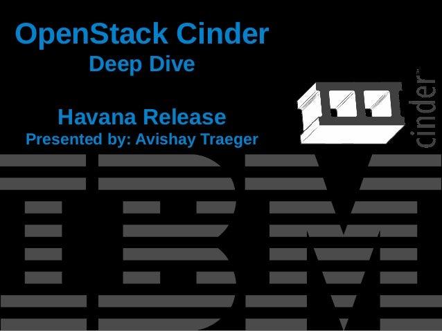OpenStack Cinder Overview - Havana Release