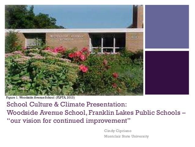 +  Figure 1. Woodside Avenue School (FLPTA, 2013)  School Culture & Climate Presentation: Woodside Avenue School, Franklin...