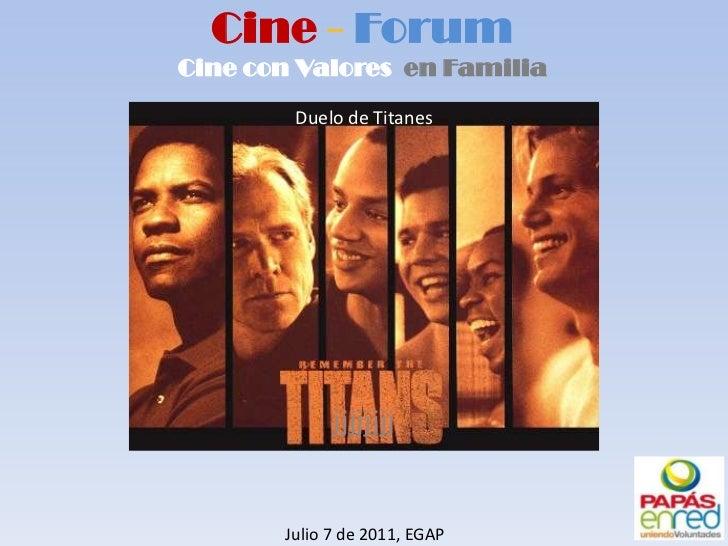 Cine Forum Remember The Titans
