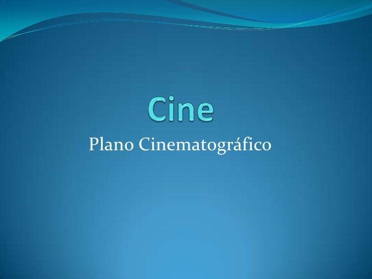 Plano Cinematográfico
