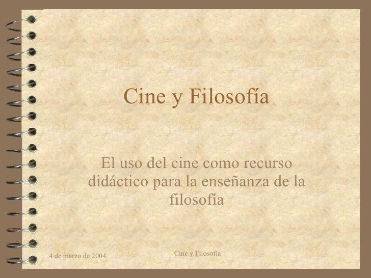 Cine Y   Filosofia