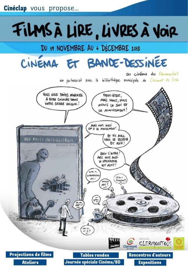 Cinéclap et Bibliothèque de Clermont (Oise) - Films à lire, films à voir - novembre décembre 2013