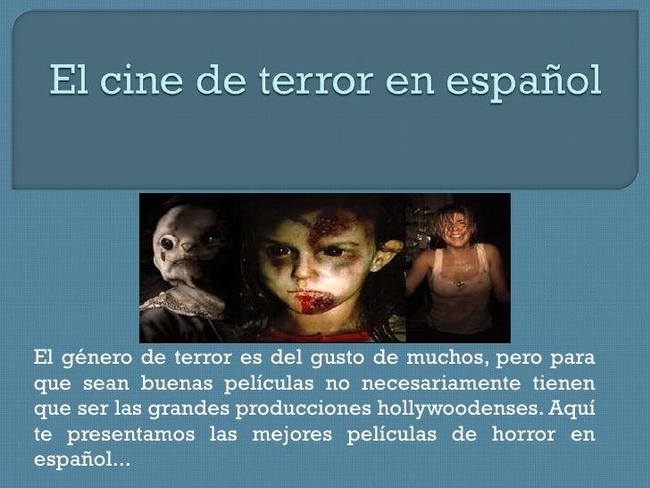 Cine de terror en español