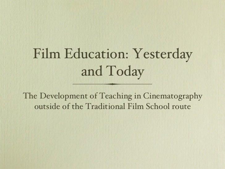 Образование в кино: вчера и сегодня