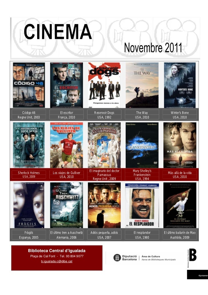 Cinema novembre 2011