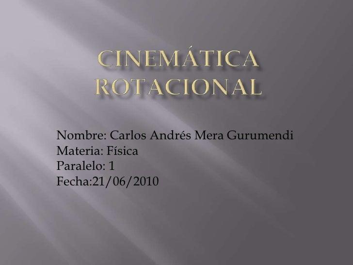 Cinematica rotacional