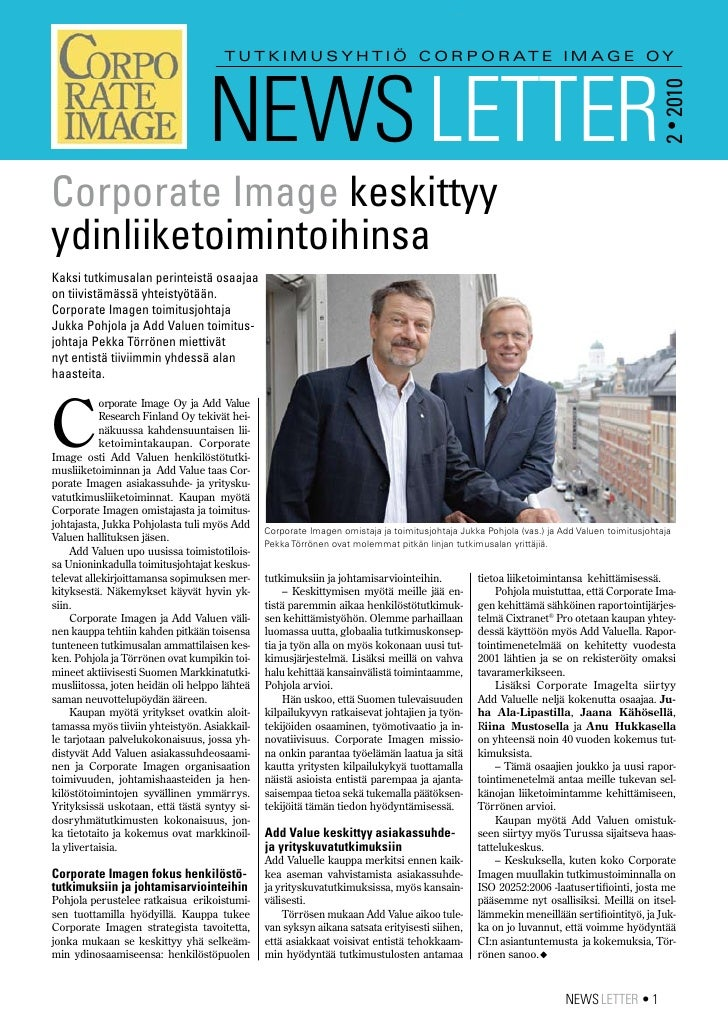 Corporate Image News Letter 2/2010