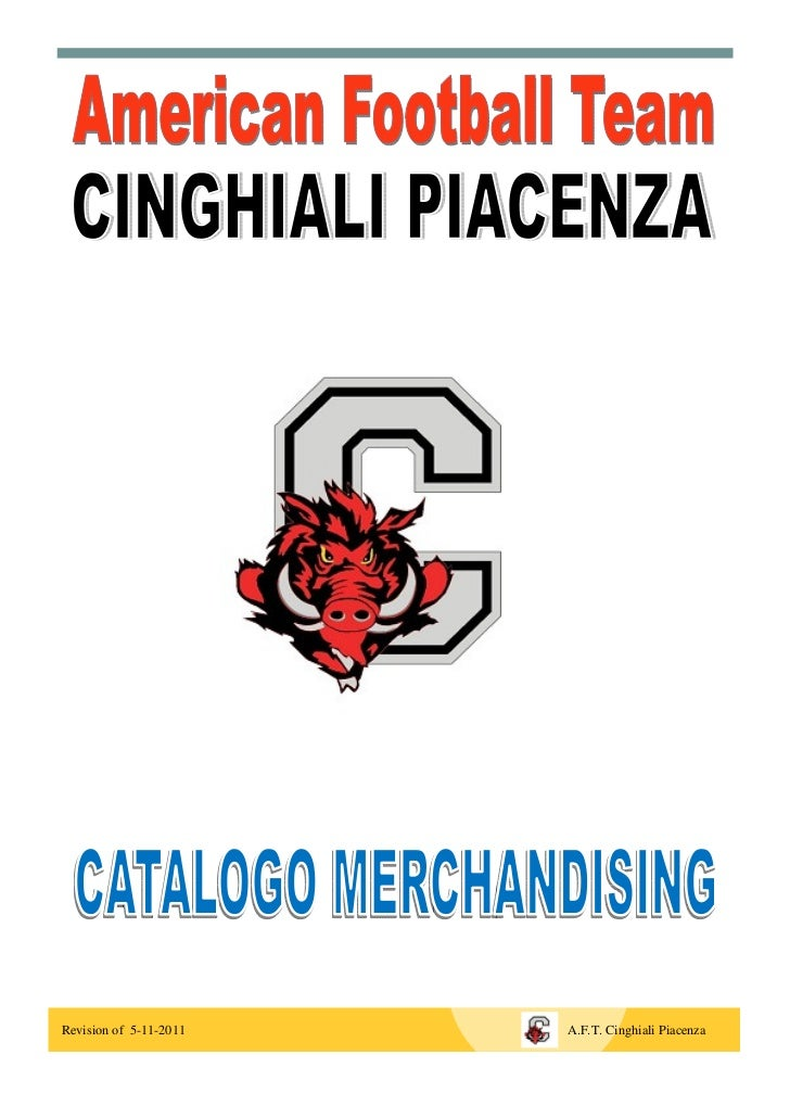 Revision of 5-11-2011   A.F.T. Cinghiali Piacenza