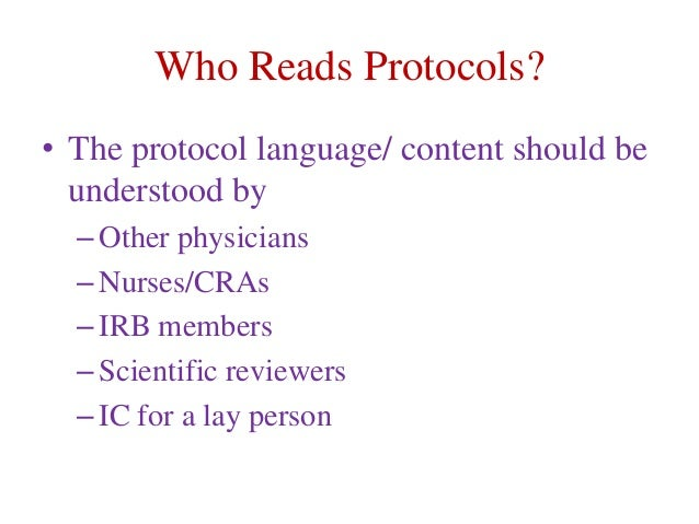 How to write clinical trial protocol