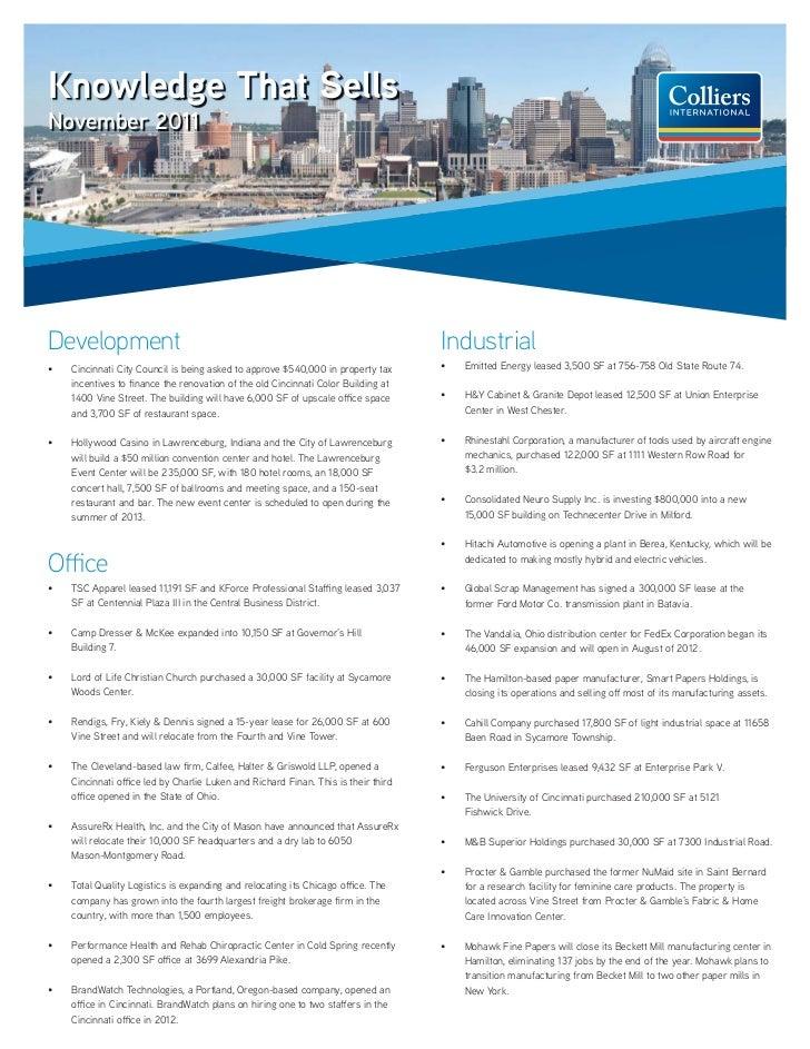 Cincinnati OH Knowledge That Sells