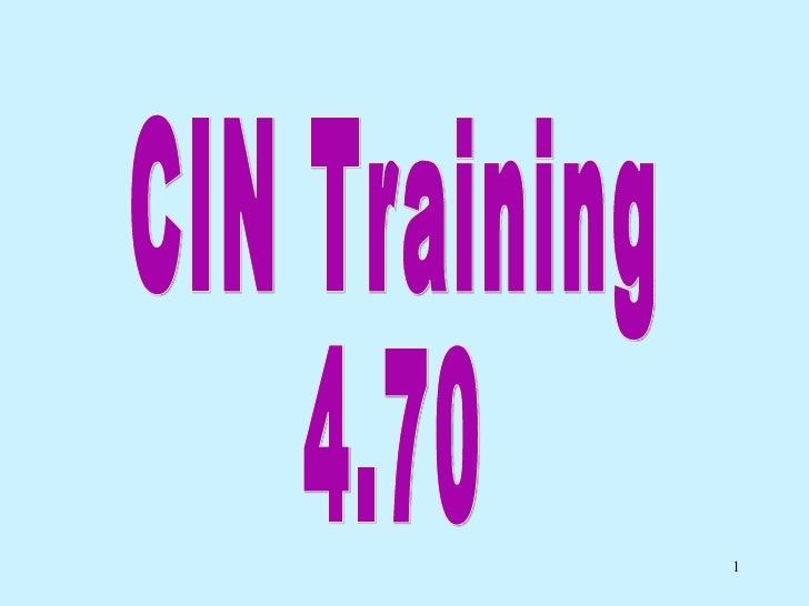 Cin Training 5