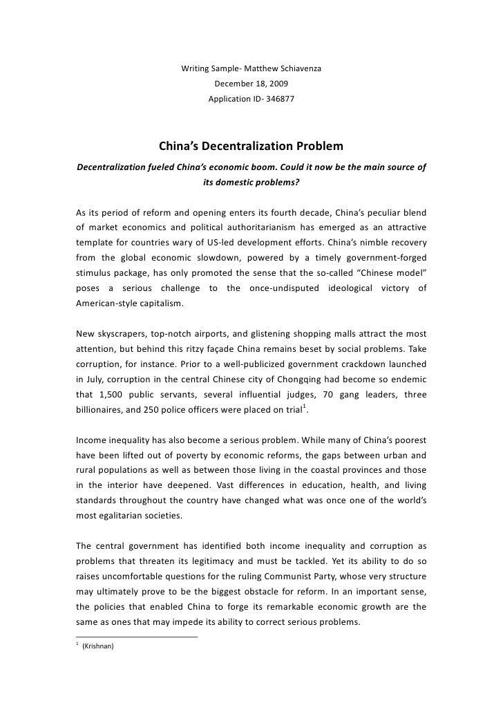 Economic Decentralisation