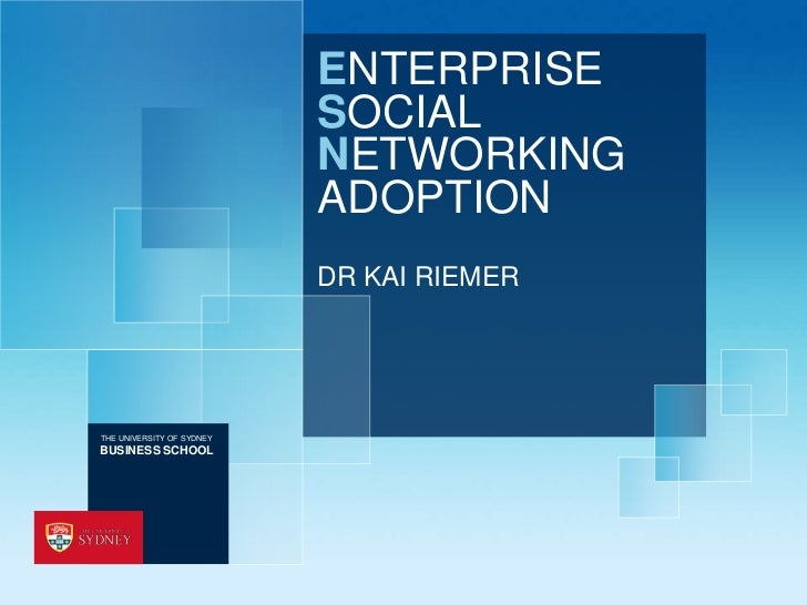 ENTERPRISE                           SOCIAL                           NETWORKING                           ADOPTION       ...