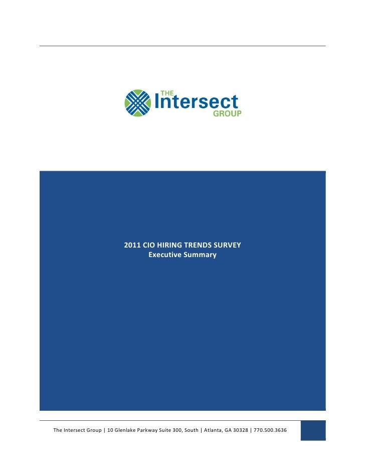 CIO Hiring Survey Executive Summary