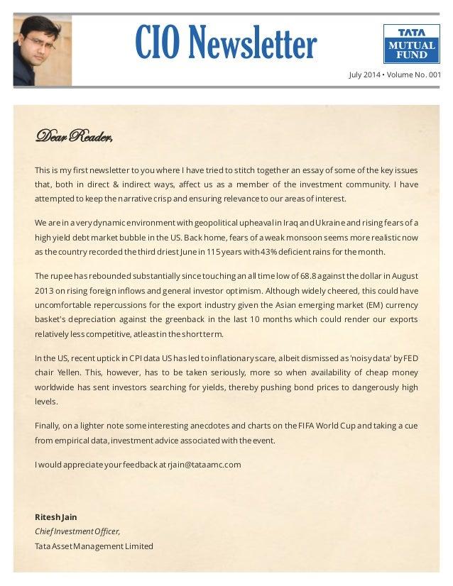 CIO Newsletter - July 2014