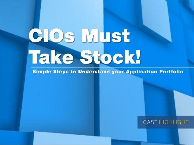 CIO's Must Take Stock