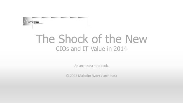 CIOs and the Shock of the New