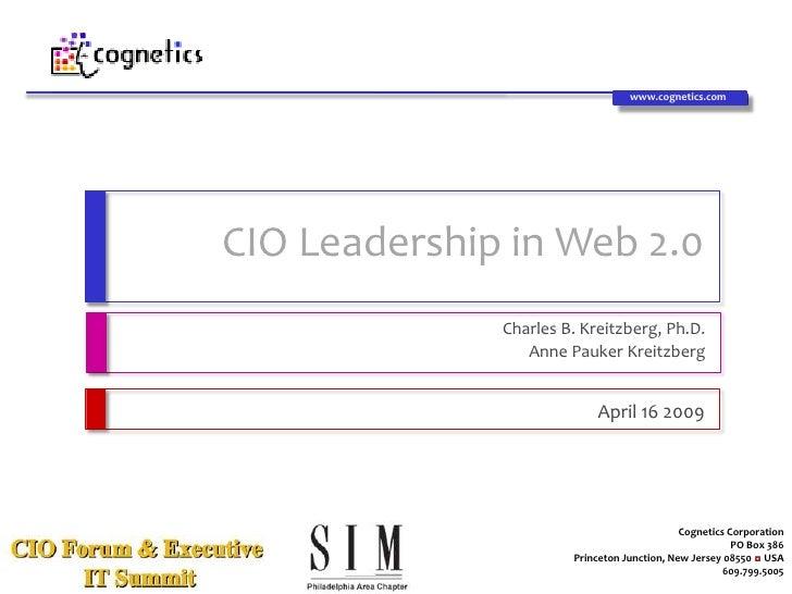 www.cognetics.com                                               CIO Leadership in Web 2.0                                 ...