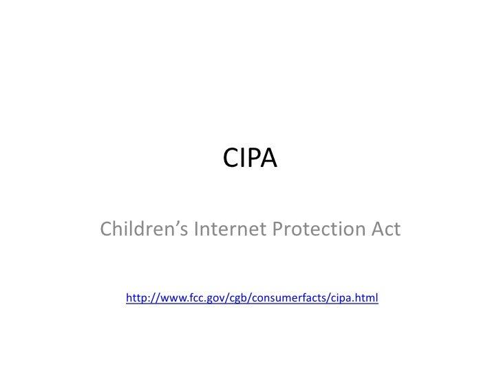 CIPA Children's Internet Protection Act